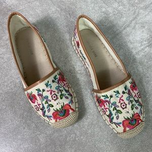 Gianni Bini Floral Embroidered Espadrille Flats